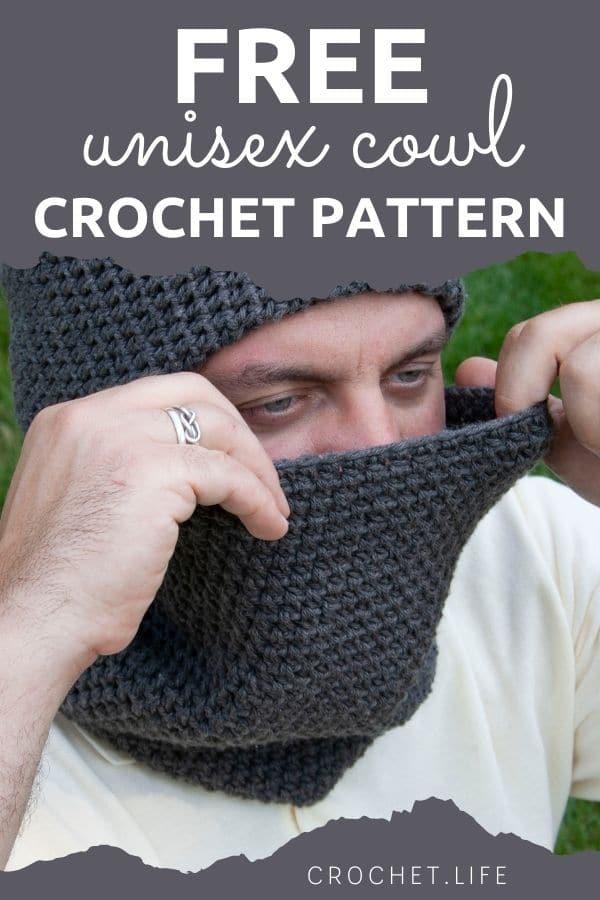 Man in gray cowl and headband