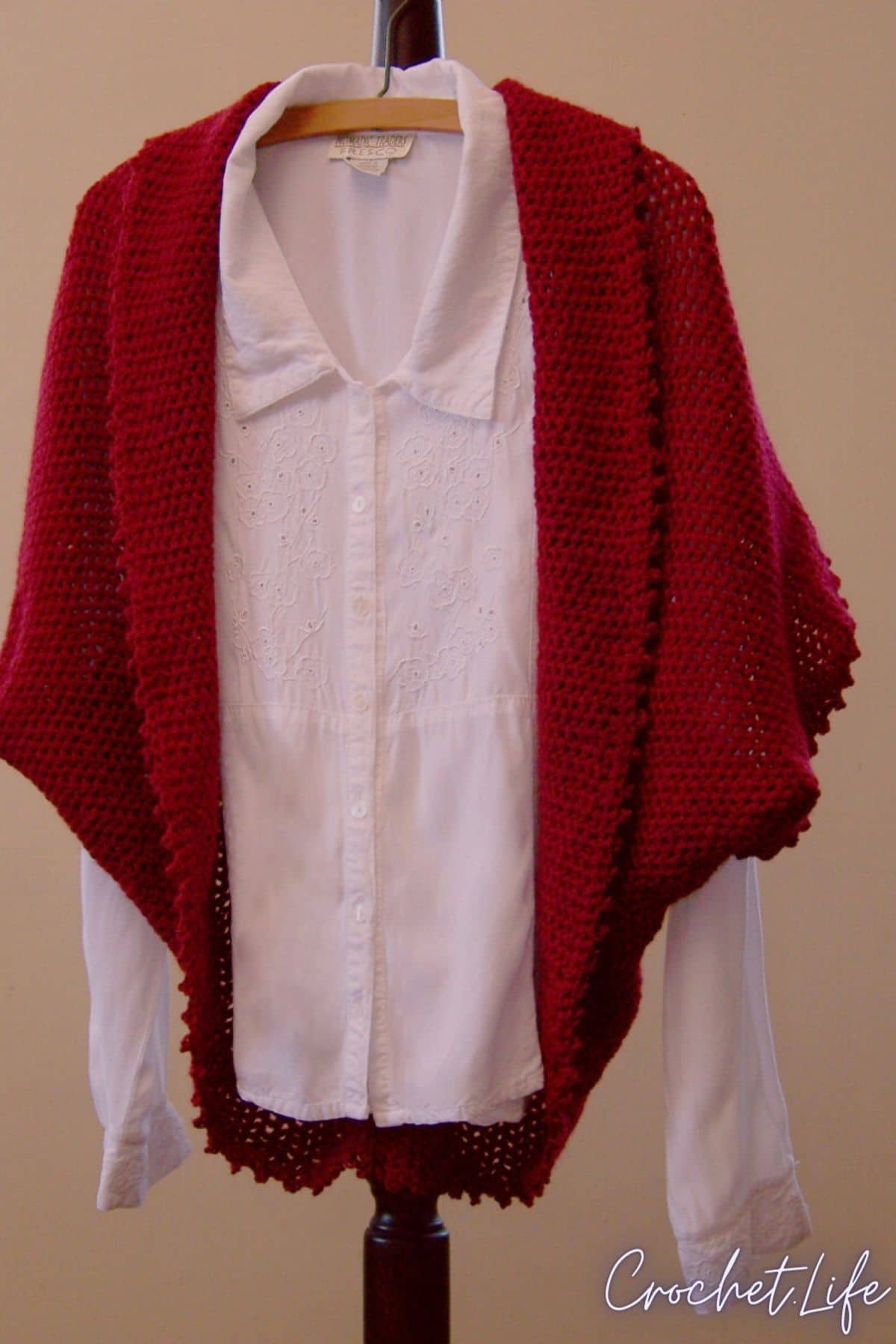 Wild cranberries crochet shrug pattern