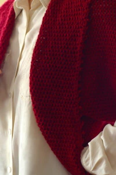 Wild cranberries crochet shrug pattern