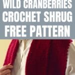 Crochet shrug collage