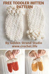 Adorable Thumbless Toddler Mittens Winter Spun Pattern