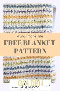 Free Crochet Color Stripe Blanket Pattern