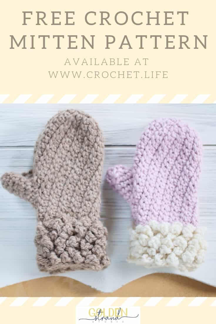 Free Crochet Mitten Pattern Child Winter Spun