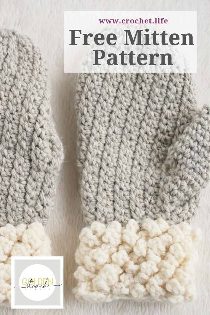 Free Adult Mitten Pattern