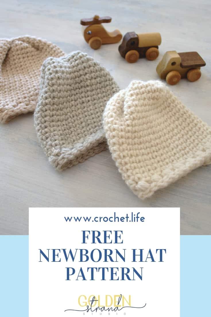 Easy Crochet Newborn Hat Pattern