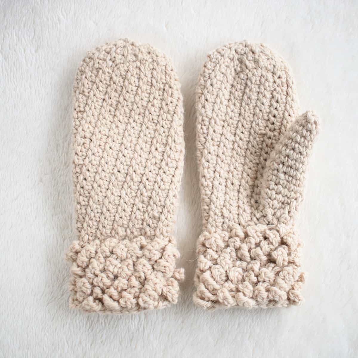 Free Pattern Winter Spun Adult Mittens