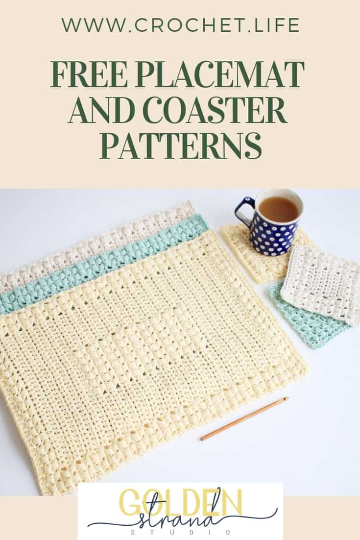 Free Placemat and Coaster Patterns 3 Different Styles