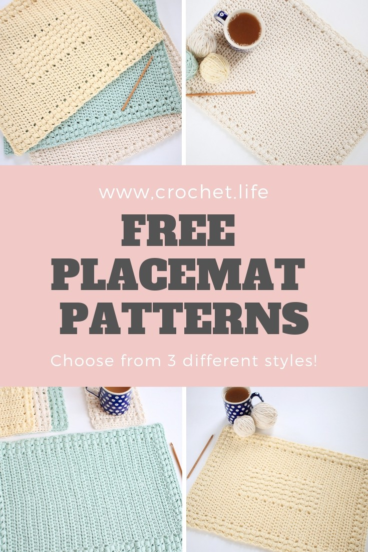 3 Simple Easy Crochet Placemat Patterns