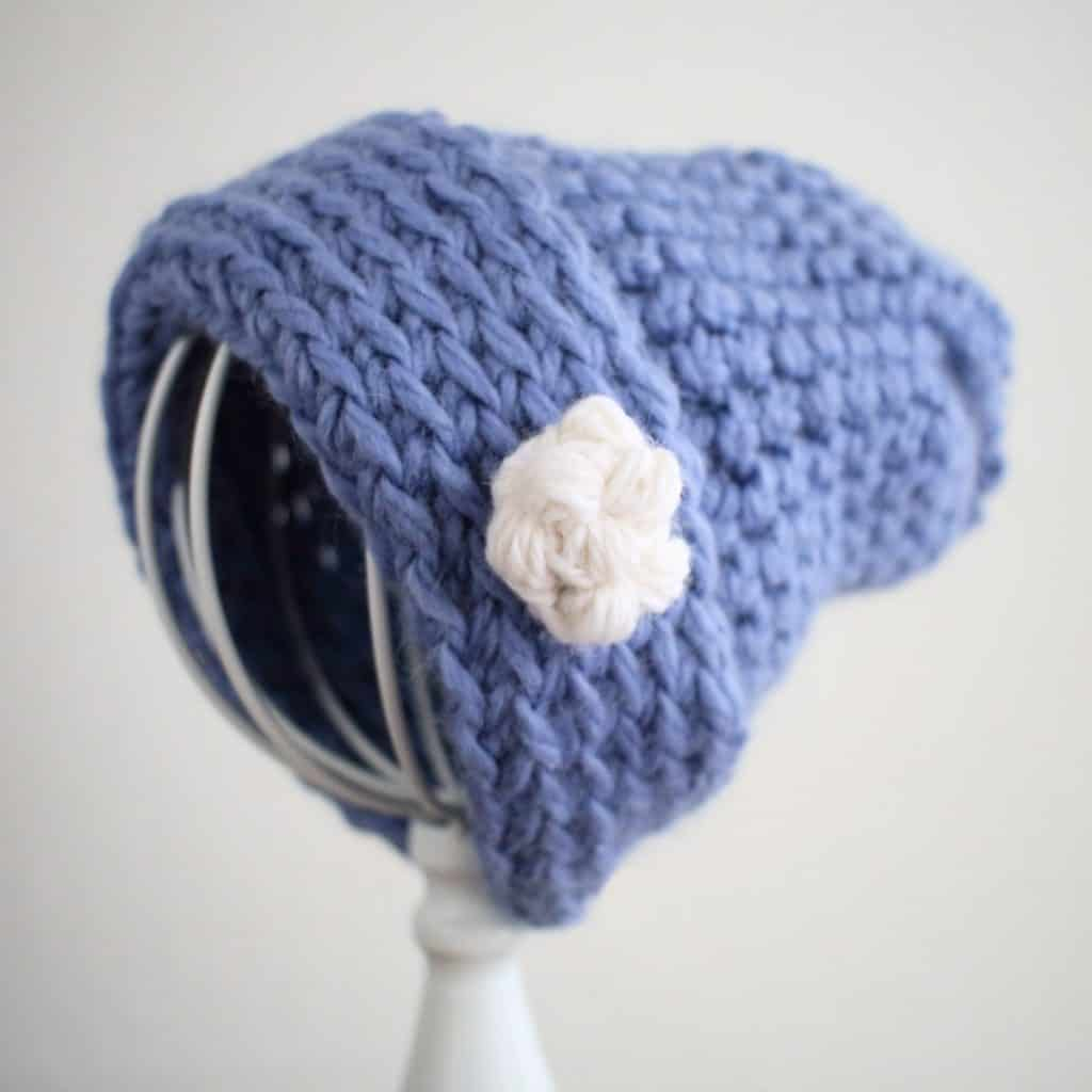Easy Crochet Snowball Motif For Hats