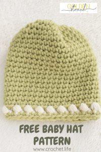 Sugar Sprout Gathered Hat Newborn Pattern