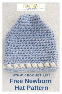 Sugar Sprout Free Newborn Peak Hat Pattern