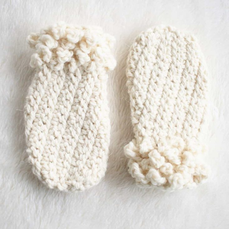 Easy Crochet Thumbless Mittens for Toddlers