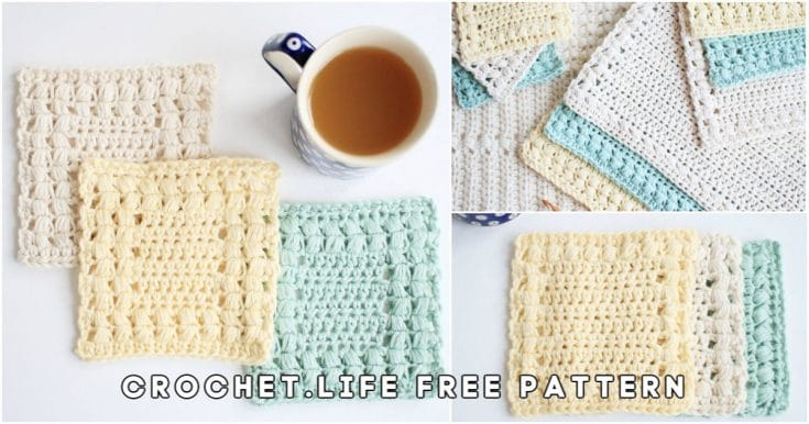 Easy Free Crochet Coaster and Placemat Patterns Set