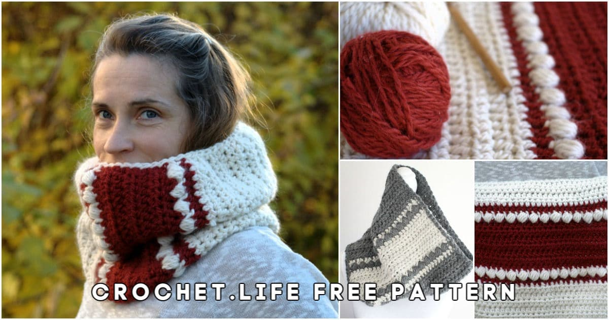 Gorgeous Free Crochet Cowl Pattern