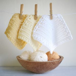 Free Crochet Dishcloths Flutterby Pattern