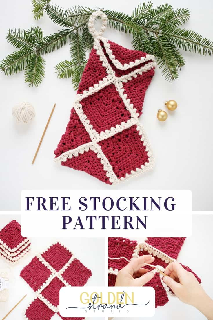 Free Flutterby Christmas Stocking Pattern