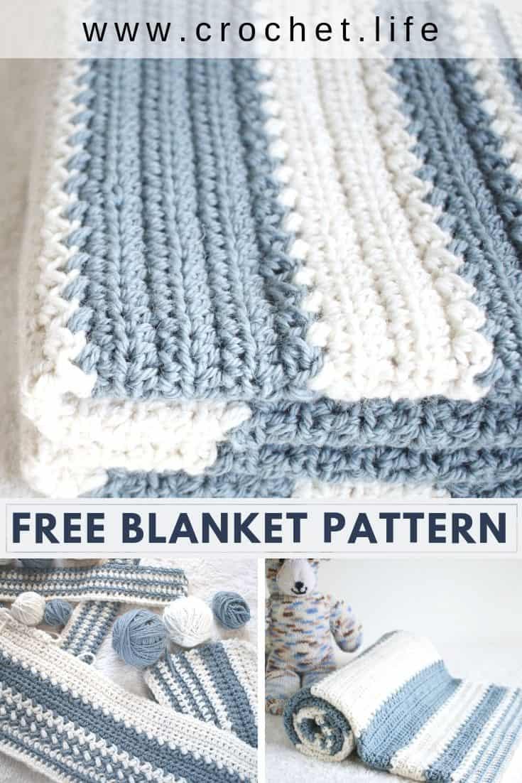 DIY nursery decor crochet baby blanket