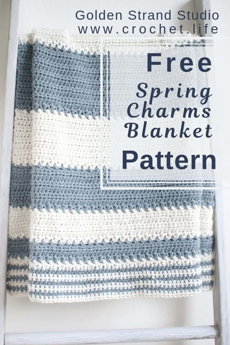 easy free striped crochet baby blanket