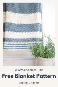 DIY nursery baby blanket crochet pattern