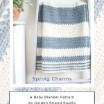 free Spring Charms baby blanket pattern
