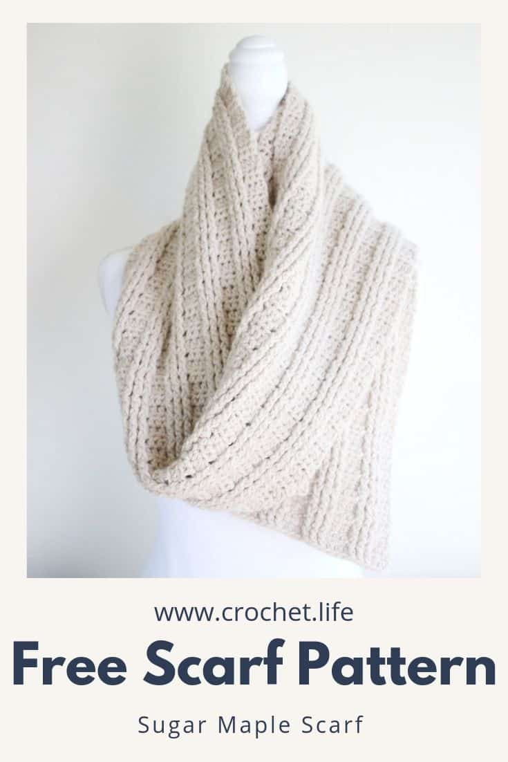 Easy Crochet Rib Scarf