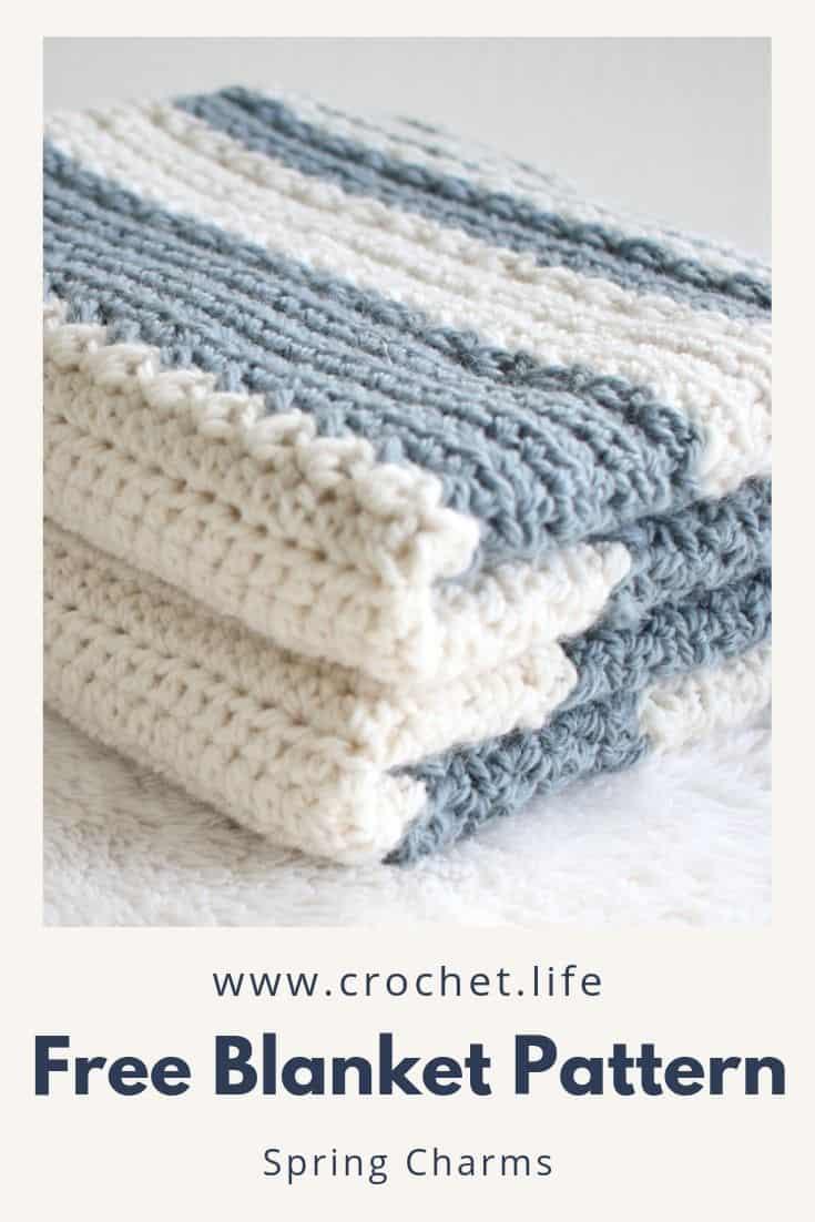 Easy Striped Baby Blanket Crochet Pattern Crochet Life