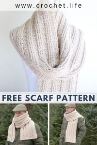 Crochet Scarf for Men Pattern Free