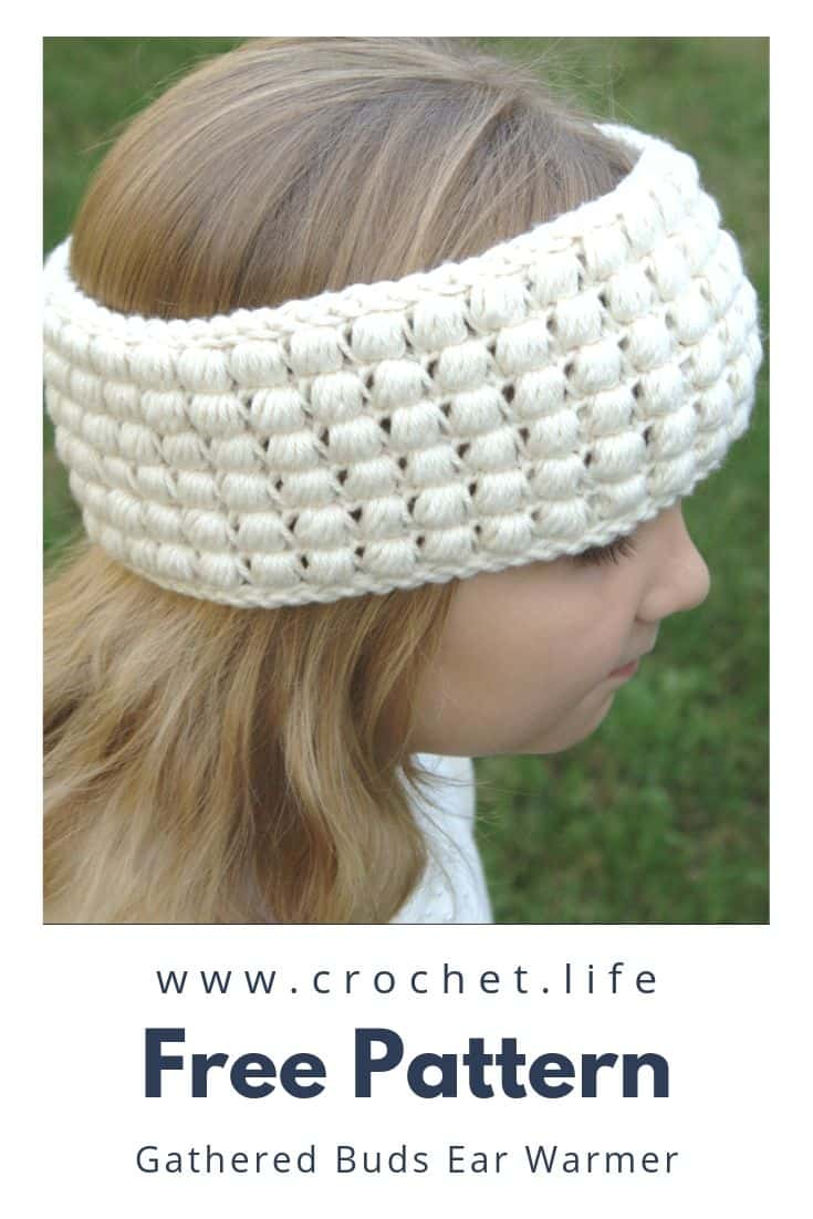 Crochet your little girl (or whole family) a snuggly warm puff stitch headband.