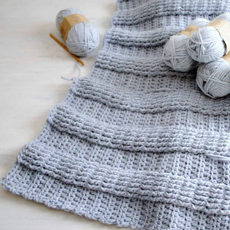 Free Crochet Ribbed Baby Blanket Pattern