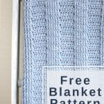 Simple crochet blanket for boys or girls.