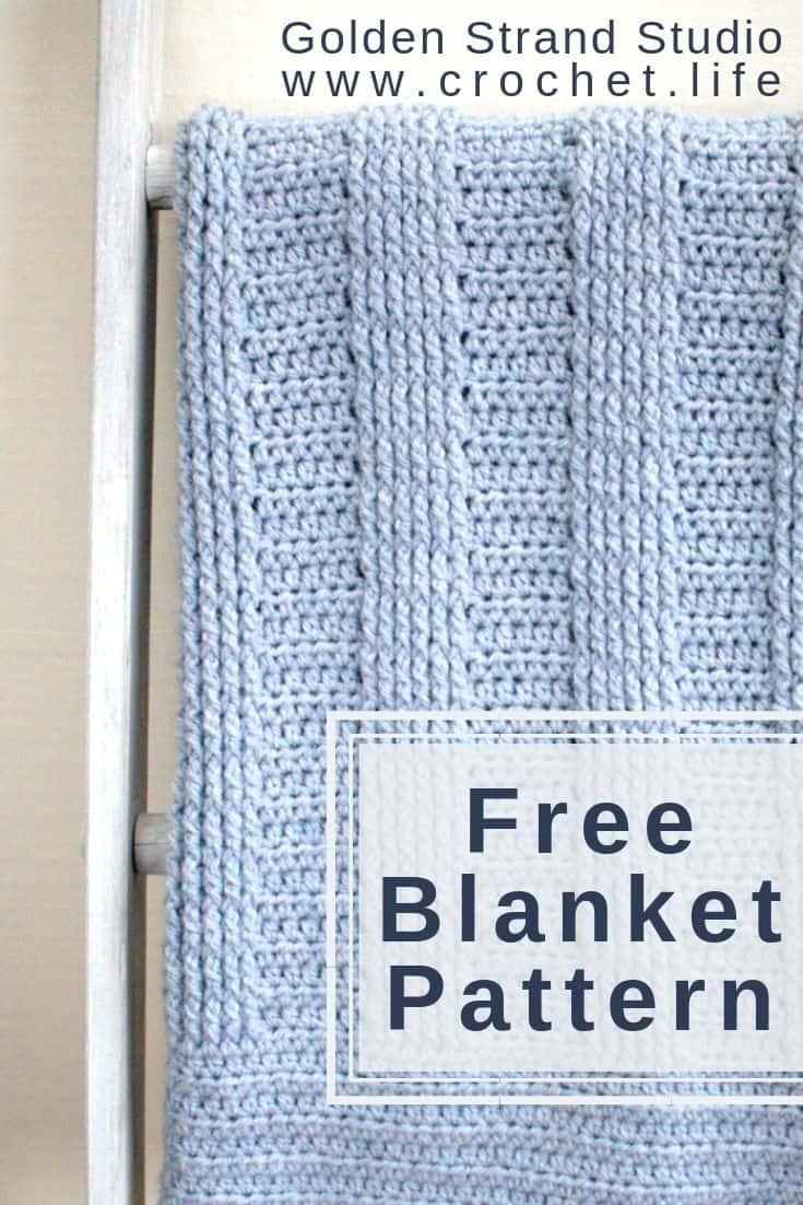 Free Crochet Ribbed Baby Blanket Pattern Crochet Life