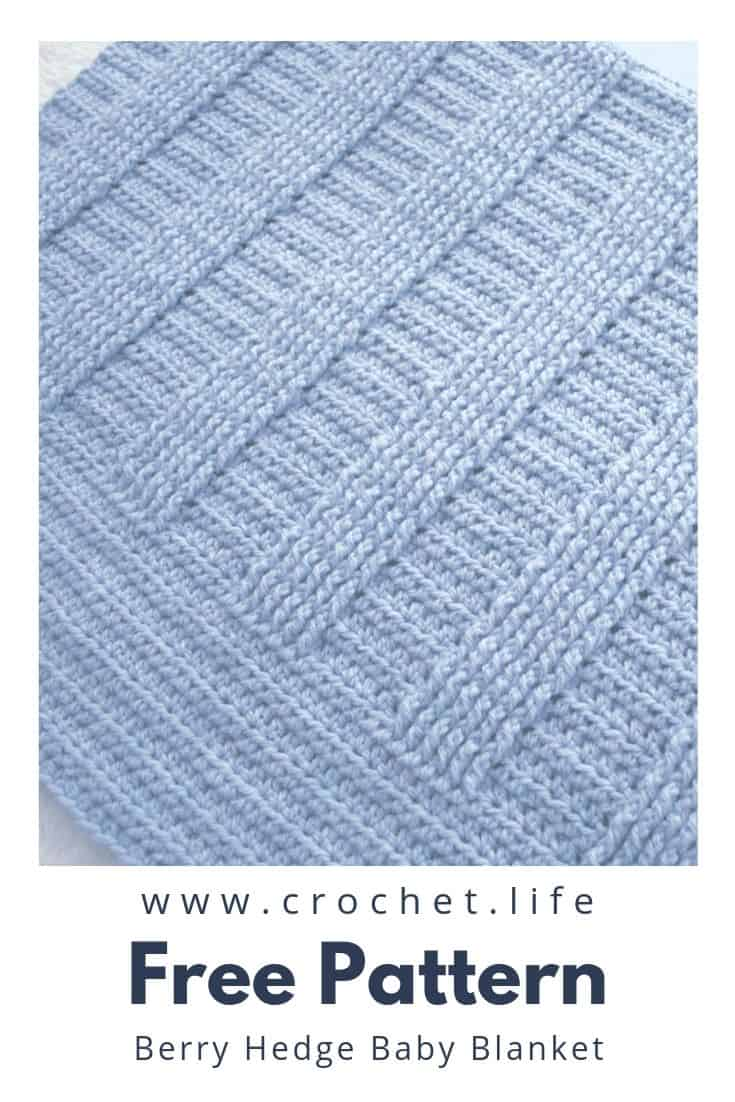 Crochet this newborn blanket with simple rib stitches.