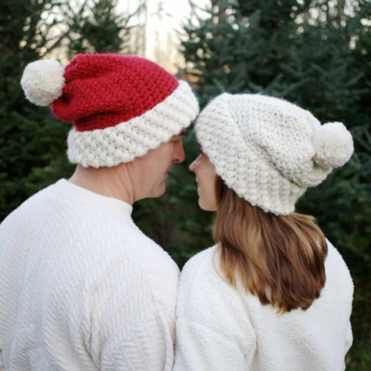 Easy Crochet Hat Pattern with 2 Different Tops