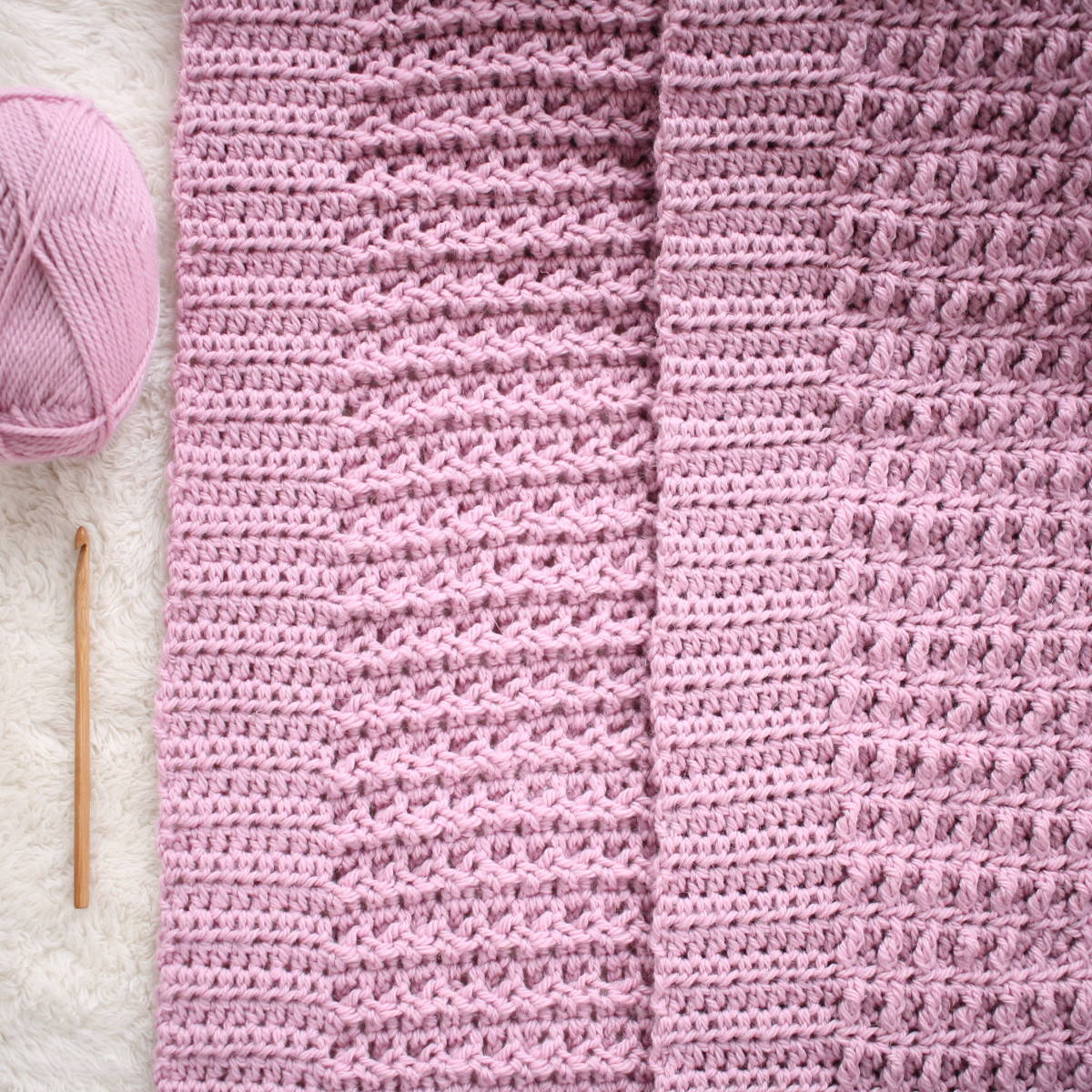 Free Crochet Nestlen Blanket Pattern