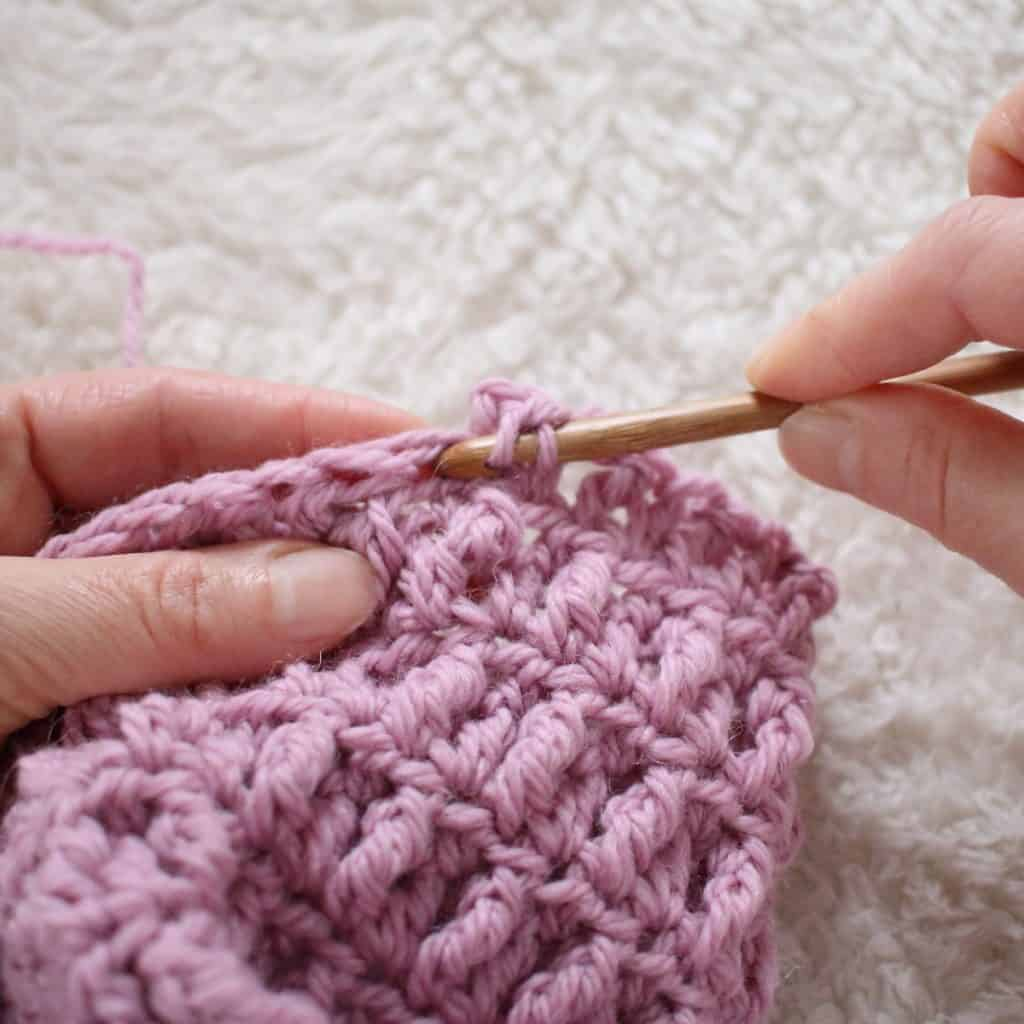 Half Double Crochet Placement with the Nestlen Blanket Pattern