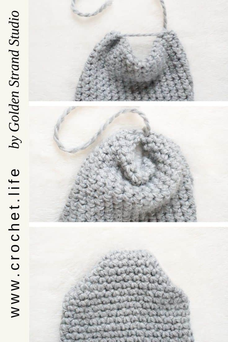 How to seam a peak hat -- fold in sides and sew together. Then turn right side out.