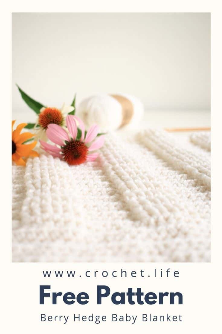 Crochet Baby Blanket with Easy Stitches