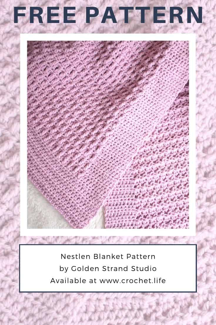 Free Baby Blanket Crochet Pattern With Built In Border Crochet Life