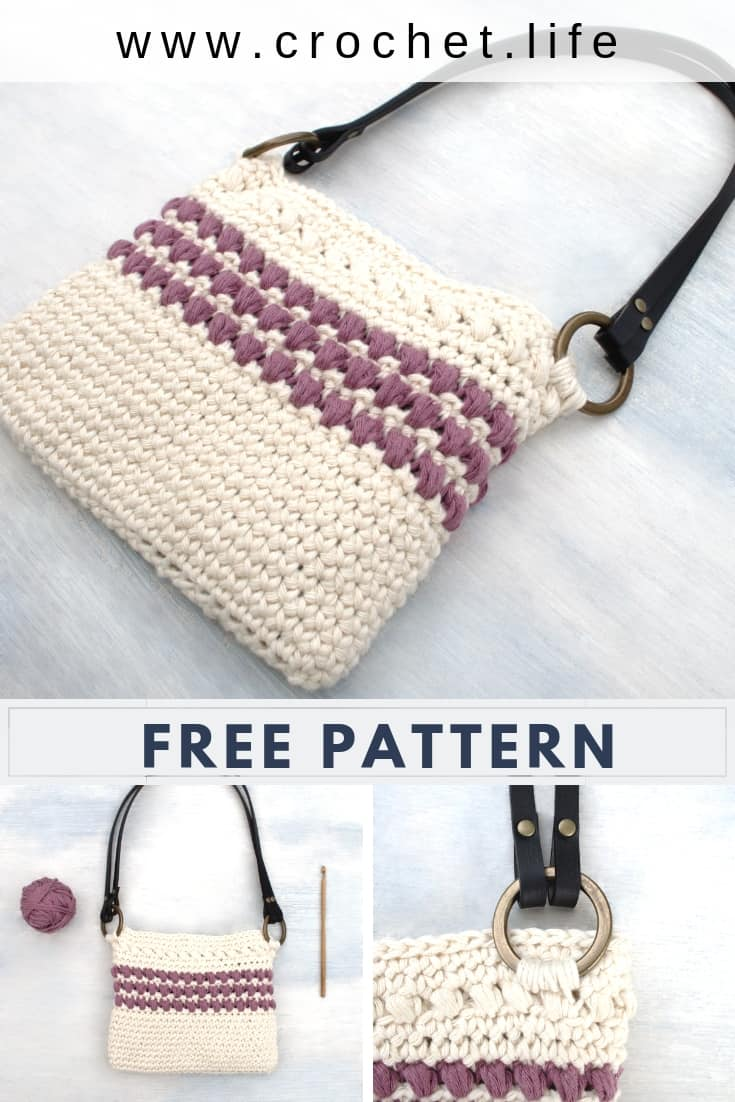 Crochet Mini Tote is the Perfect Match to the Red Clover Summer Crochet Tote Bag.