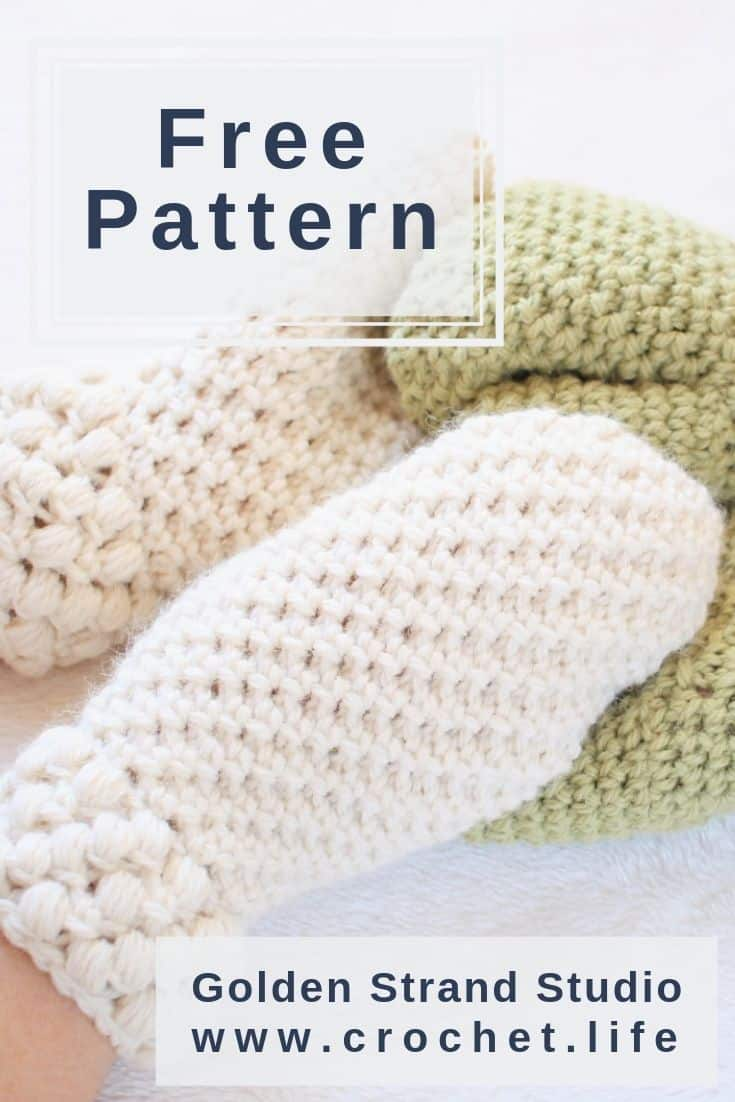 Simple DIY Crochet Mittens with Puff Stitch Cuff