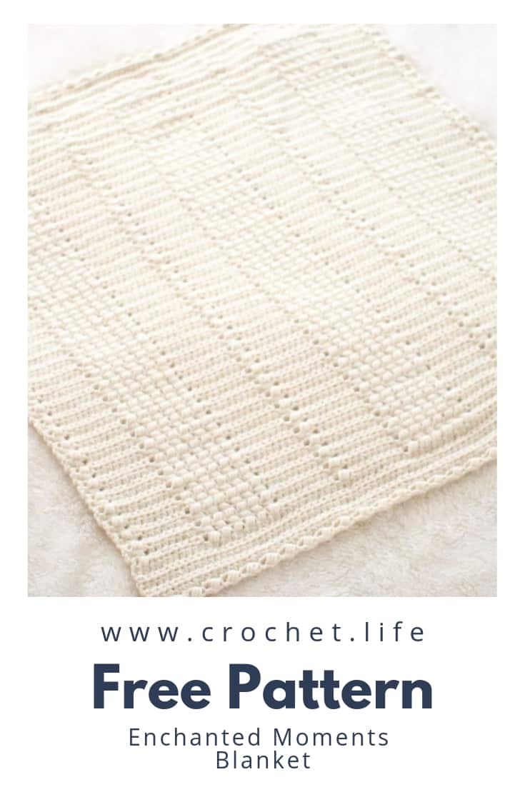 Classic Blanket Pattern With Cream Yarn. Lots of texture with puff stitches.