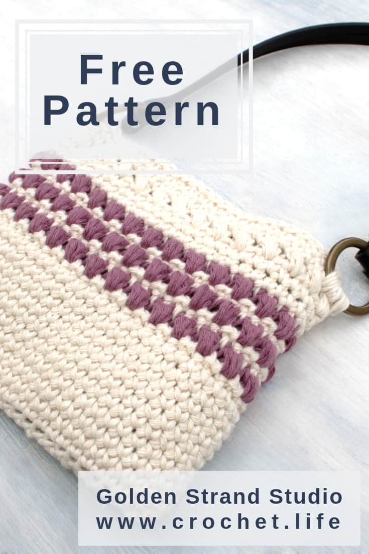 The Red Clover Mini Tote is Simple and Easy to Crochet.