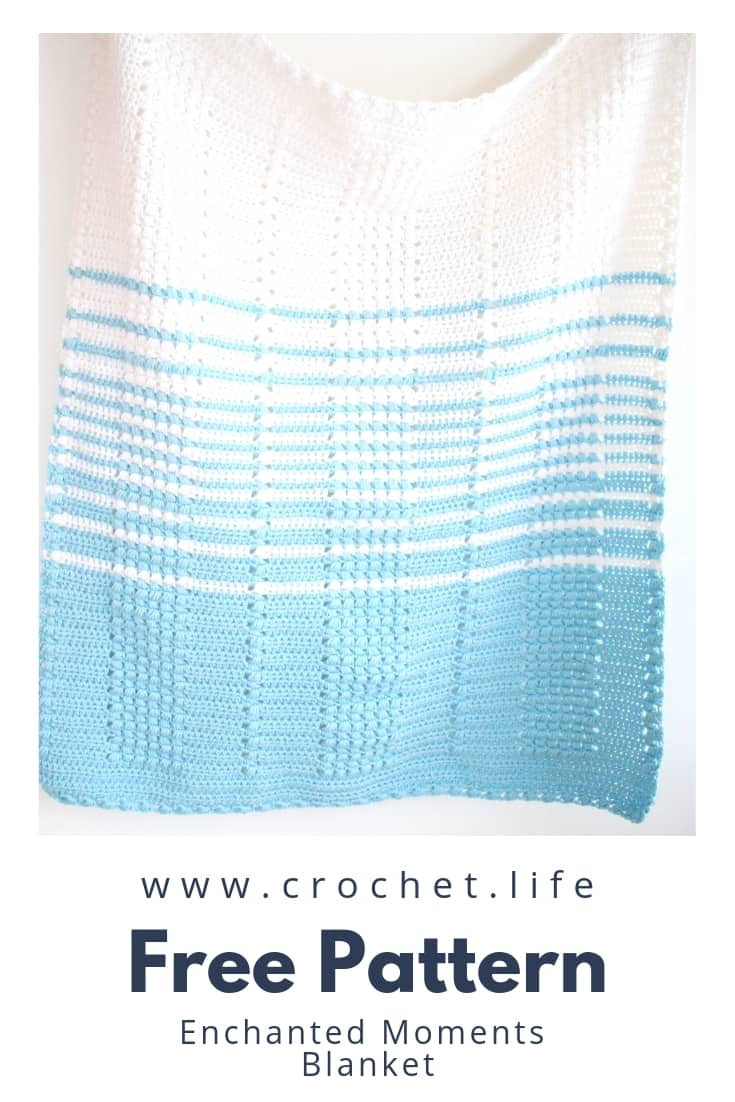 Easy Crochet Blanket Made with Enchanted Moments Pattern