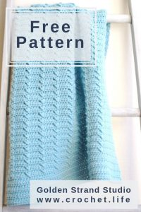 Classic Blanket. Easy and Free Crochet Pattern.