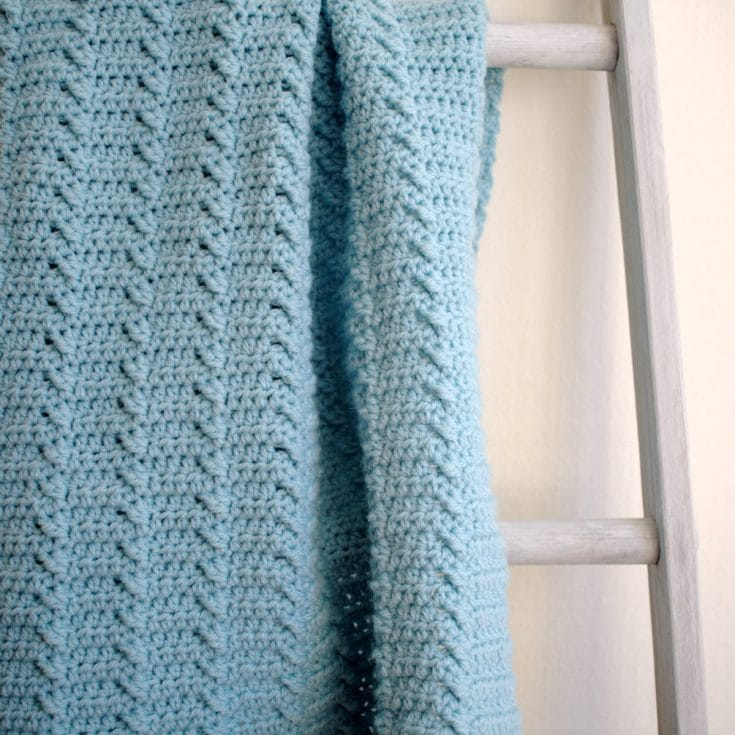 Rippled Fast Crochet Blanket Pattern