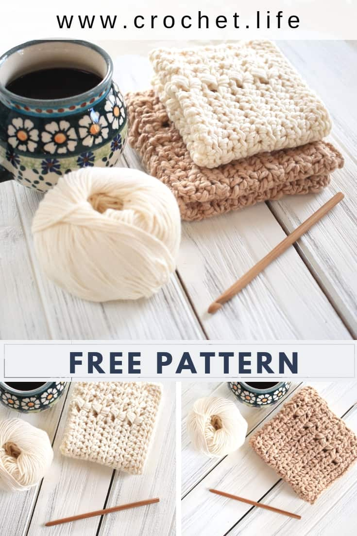 Free River's Edge Crochet Dishcloth Pattern