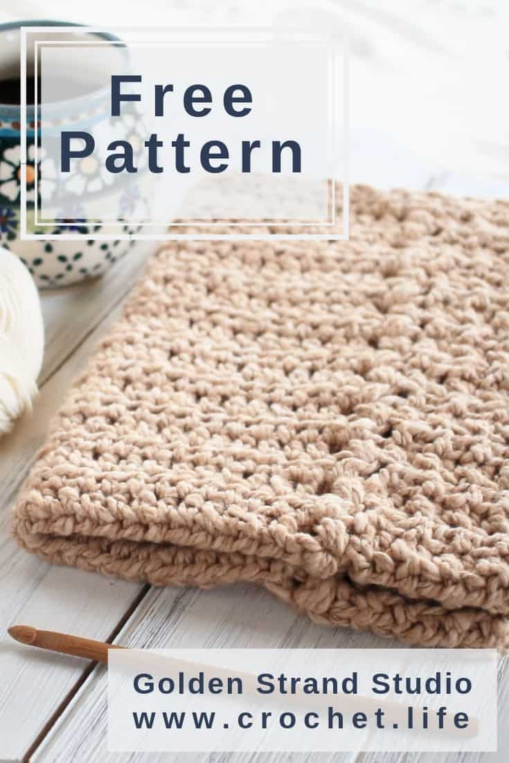 Free Cotton Dish Towel Crochet Project