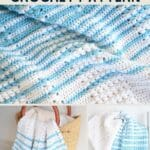 Striped blanket collage