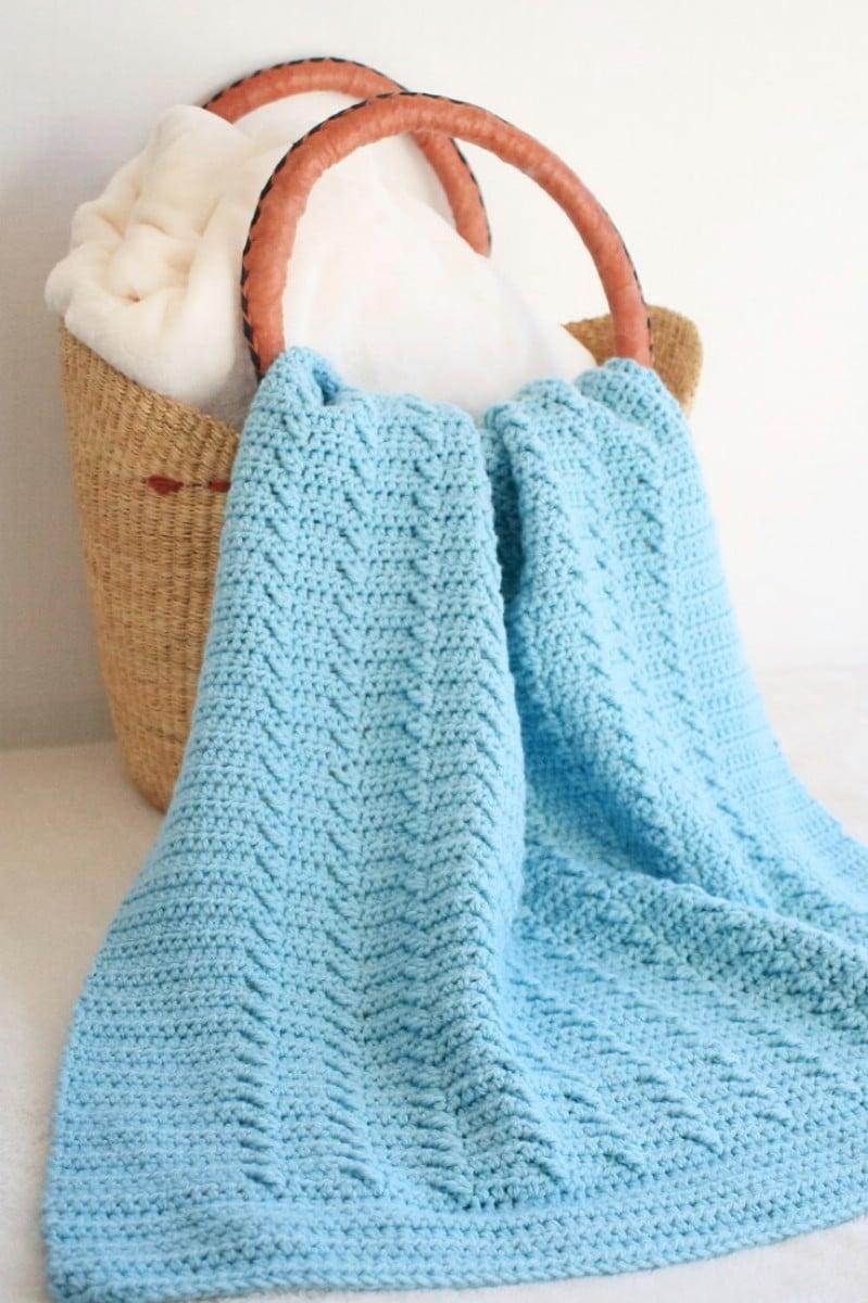 Rippled Fast Crochet Blanket Pattern Crochet Life