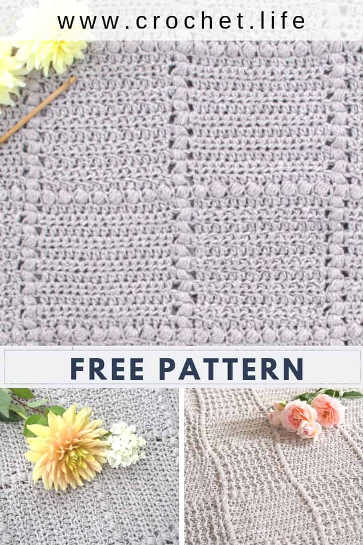 Soft Puff Stitches Create a Beautiful Textured Baby Blanket